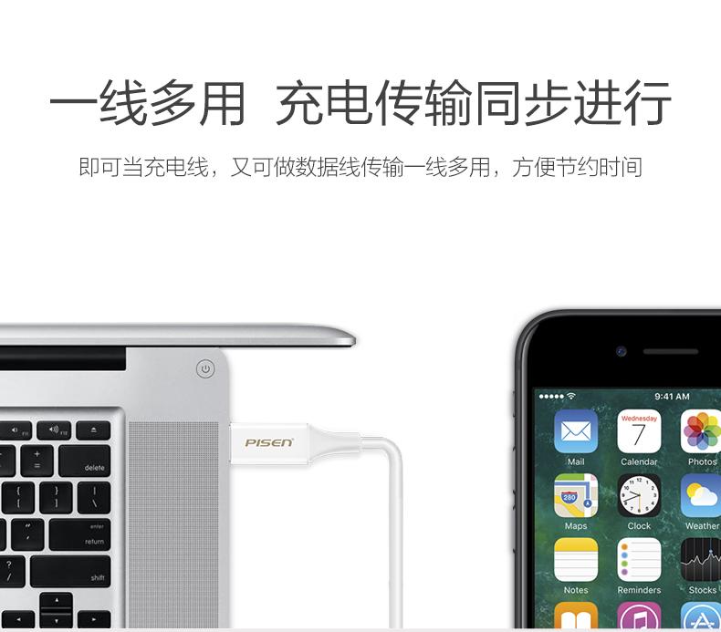 苹果4规格参数_品胜 Lightning抗折断数据充电线 适用于iPhone4-8/x/ipad mini等系列 ...